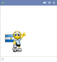 Argentinian football smiley for Facebook