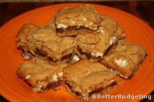Cookie bars that taste like S'mores!