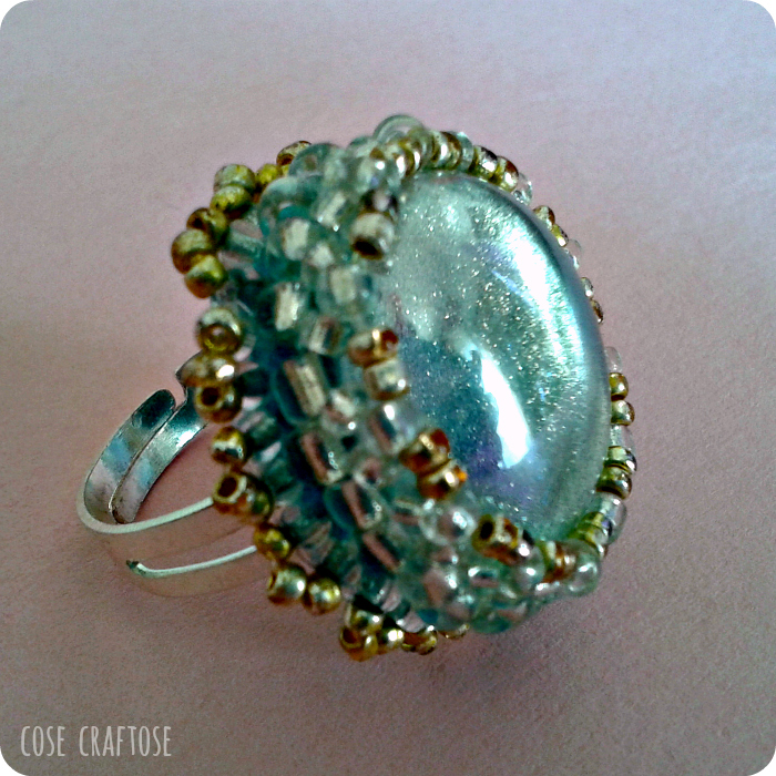 bead embroidery - ring