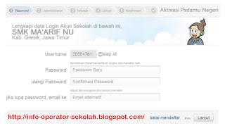 Ganti Password akun sekolah padamu negeri
