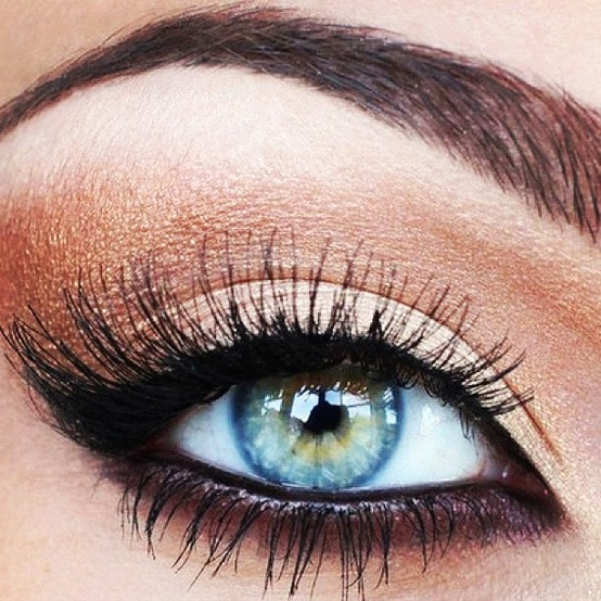 eye eye & black blue blue eyes tumblr for words: Copper eyes makeup  makeup natural pop. beautiful