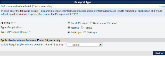 passport type How to Manage Appointment for Passport and Apply Online?