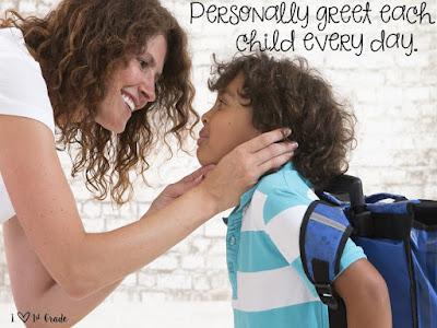 tips, greet each child