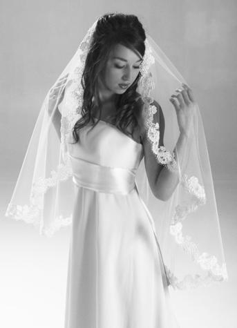 Wedding Hairstyles With Mantilla Veil