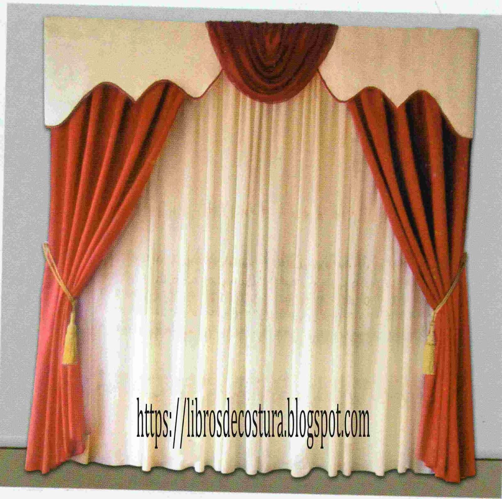 Libros de costura como hacer cortinas paso a paso for Colores de cortinas para cocina comedor