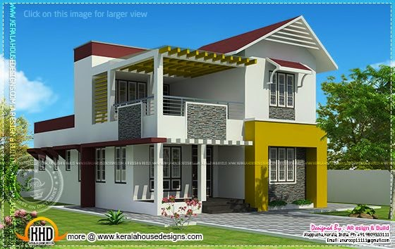 Modern villa elevation