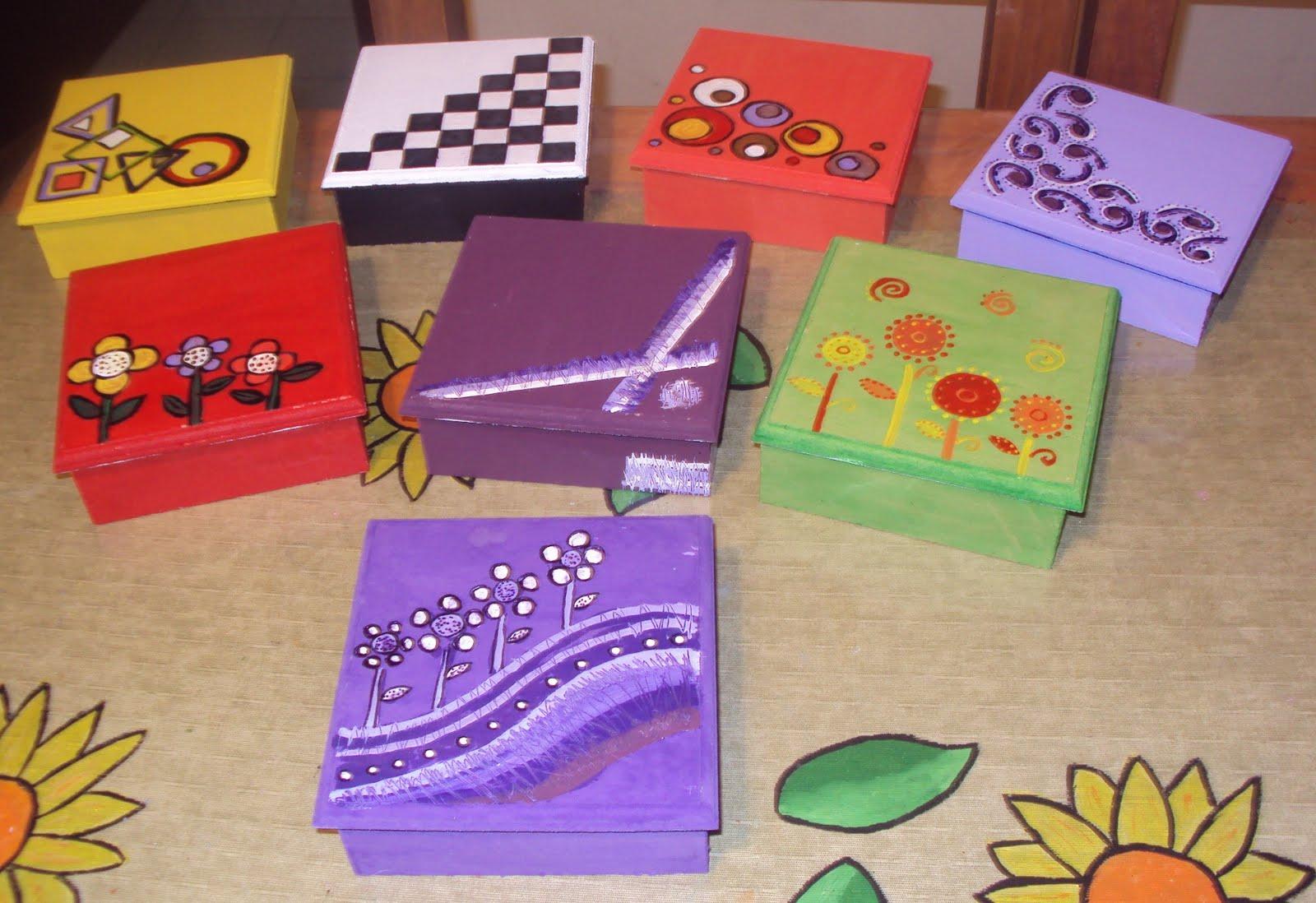 Cajas de regalo pintadas de carton imagui for Cajas pintadas a mano