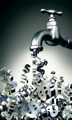 Канал Серебряный Денежный поток Faucet-Pouring-Money