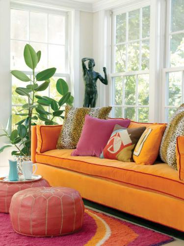 Color inspiration: Decorating with pink and orange. Beautiful! entirelyeventfulday.com #decorating #orange #pink