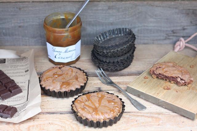 Bloggeburtstag, Frollein Pfau, HerzStück, Rezept, gesalzenen Schoko-Karamell Tartelettes