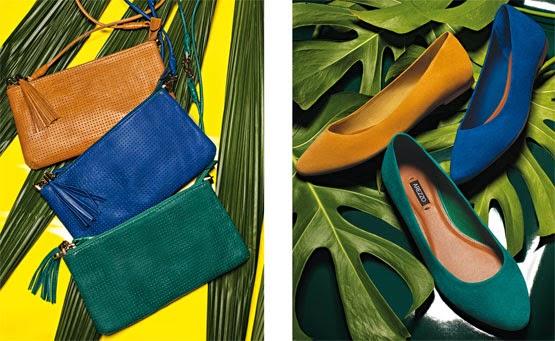 clutches e sapatilhas Arezzo coleção Brasil Eu Te Amo