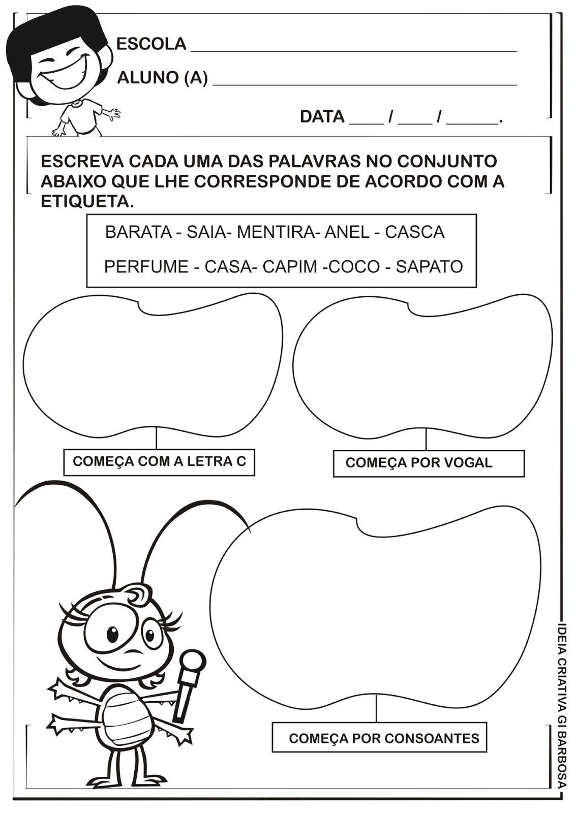 Conhecido E.M. Vereador Carlos Pereira Neto: Atividades com Cantigas de Roda VJ29
