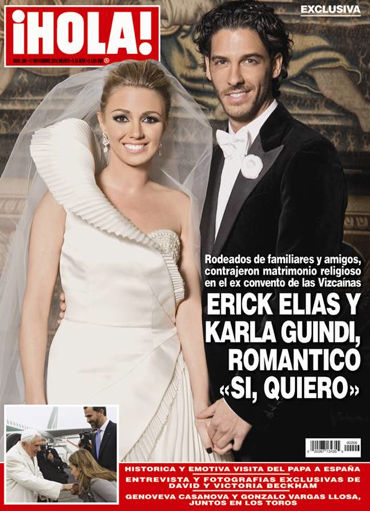 red carpet wedding erick elias and karla guindi red