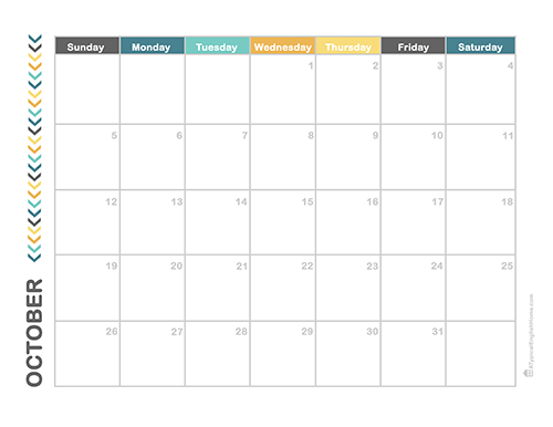 Download print october 2014 calendar for Calendar template that you can type in