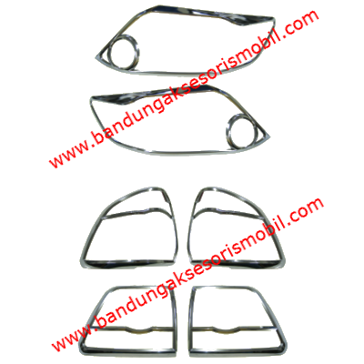 Garnish Depan Belakang 6 Pcs All New Fortuner 2011 - 2013