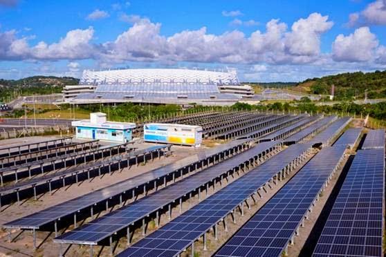 Usina Solar que abastece Arena Pernambuco