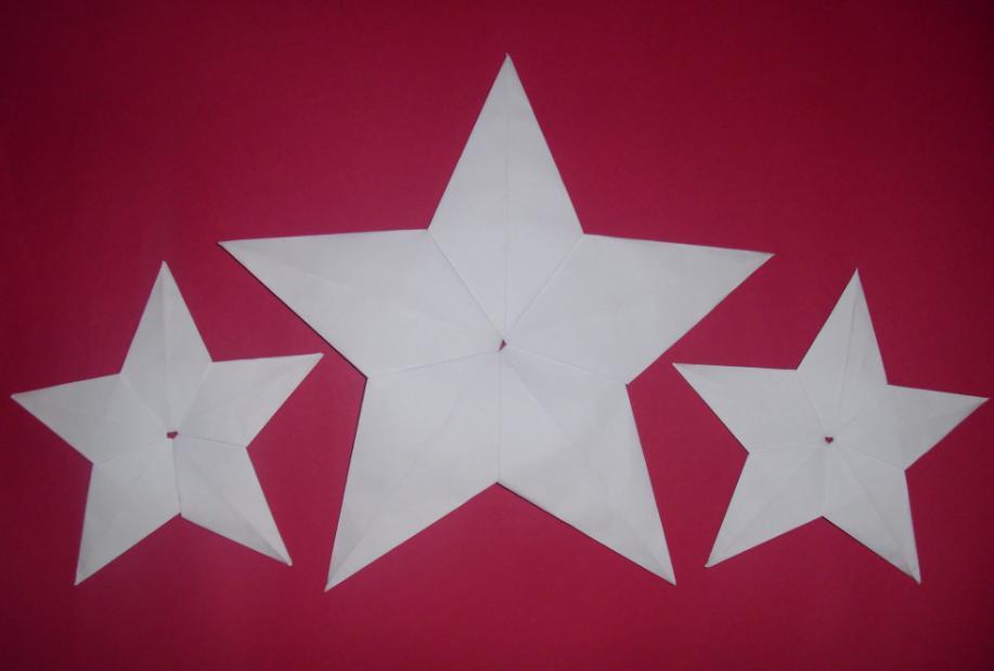 Como hacer una estrella de cartulina o papel facilisimo - Estrellas de papel ...