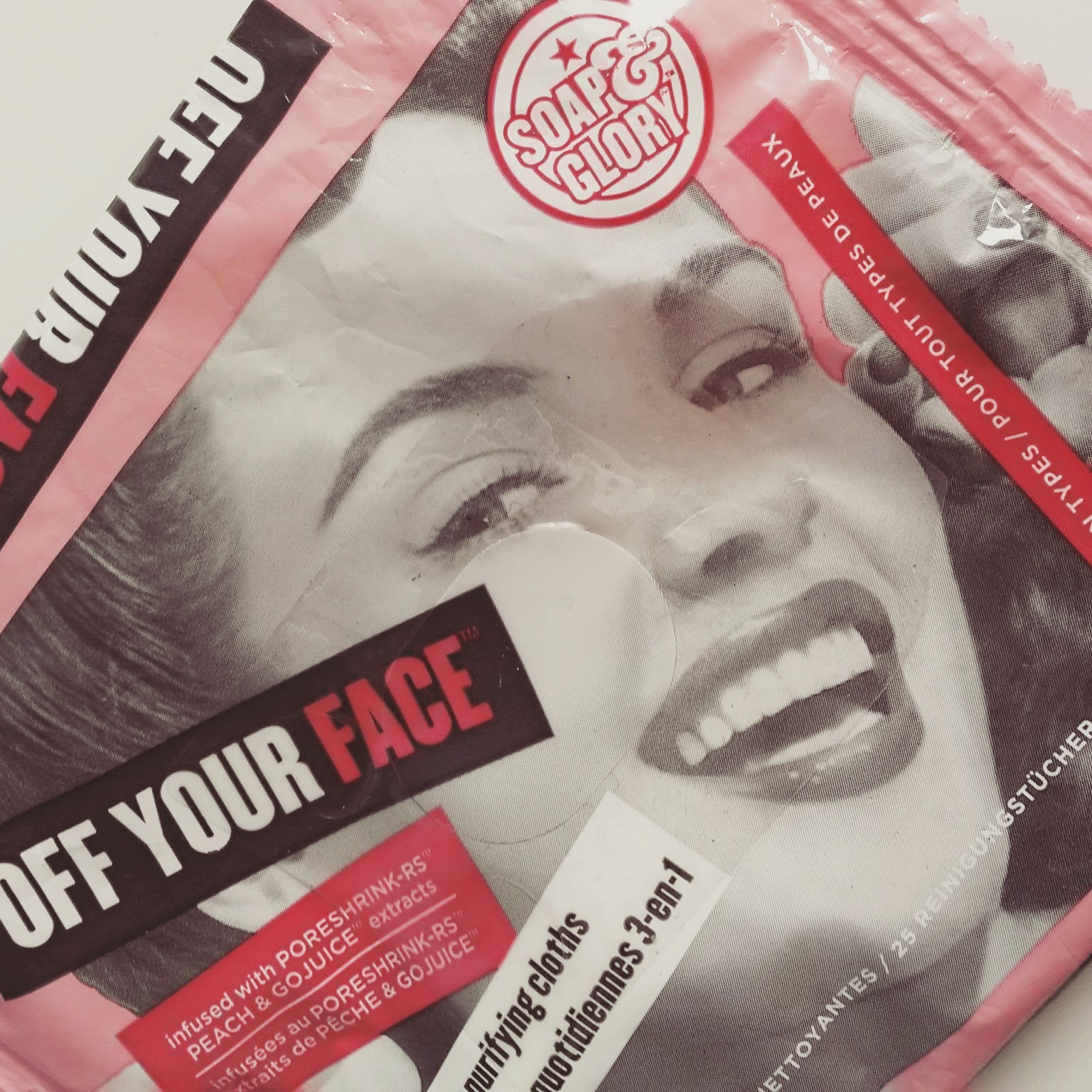 Soap and Glory off your face wipes