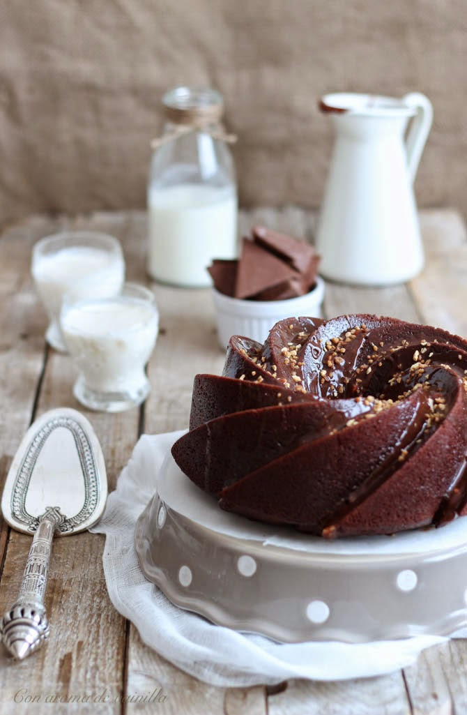 Bundt cake de chocolate toblerone