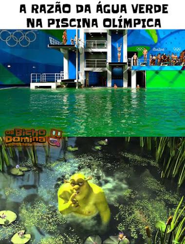 Água verde na Piscina Olímpica