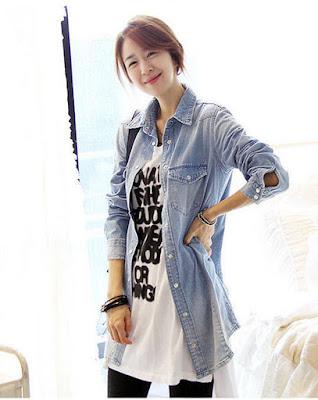 Model Kemeja Slim Denim Korea Terbaru 2015