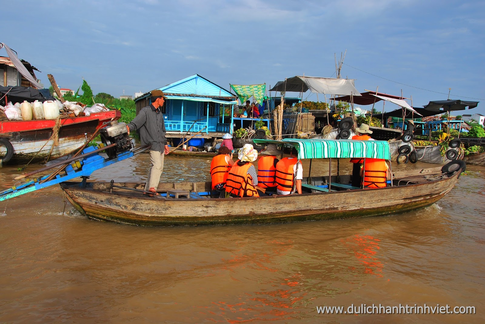 Khám phá chợ nổi Long Xuyên 2014