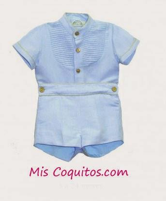 Camisa y pantalon para bebe coleccion primavera 2015