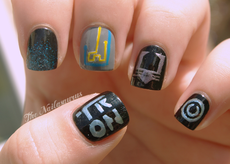 Best Of Nail Art Just Like The Movies Tron Nail Art
