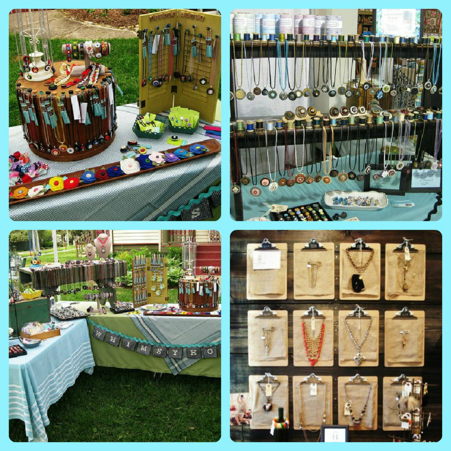 Stamping out loud arts and craft booth ideas for Display necklaces craft fair