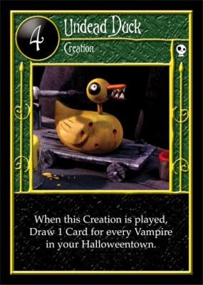 A Card for the Day: Undead Duck - The Nightmare Before Christmas TCG