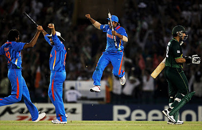 indian team celebrate win over pakistan