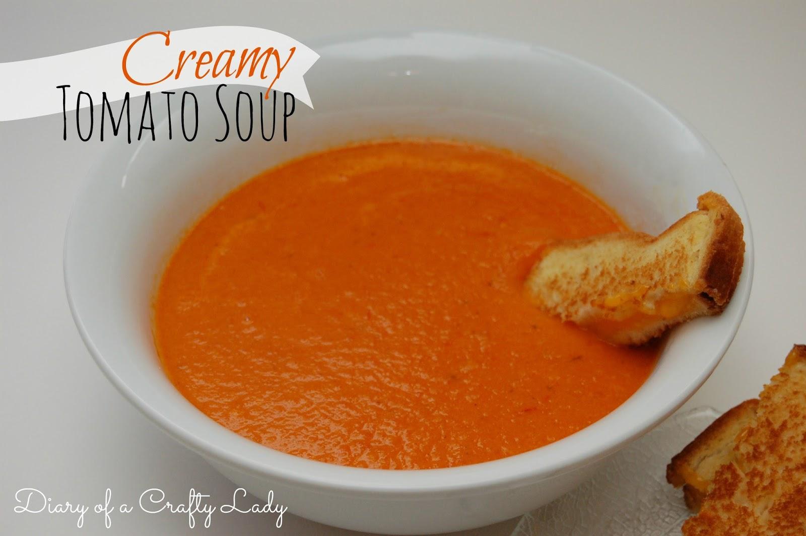 Diary of a Crafty Lady: Creamy Tomato Soup {Recipe}