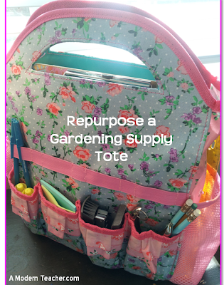 Tutor Bag: Repurpose a garden tote: A Modern Teacher