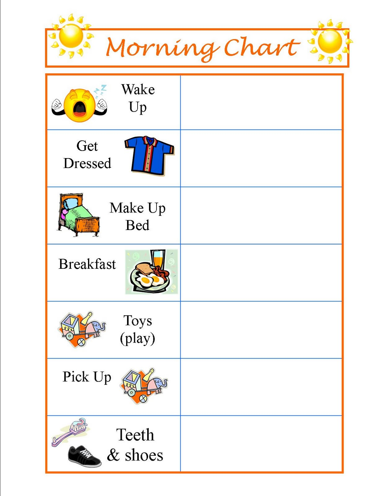 Parenting Thursday Routine Charts on Preschool Job Chart