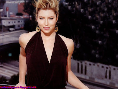Jessica Biel hoty babe girl wallpaper