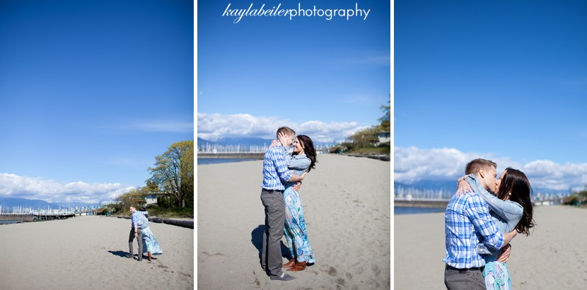 jericho beach vancouver engagement photo