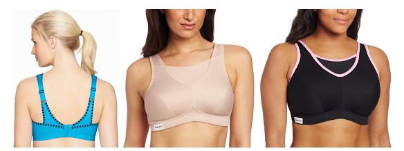 Glamorise Womens Plus-Size No Bounce Full Support Sport Bra 34G Black//Pink