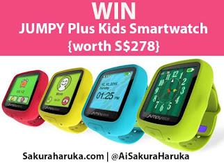 "GIVEAWAY & PROMO: Quote ""JPSakura10"" for 10% OFF JUMPY Plus Kids Smartwatches."