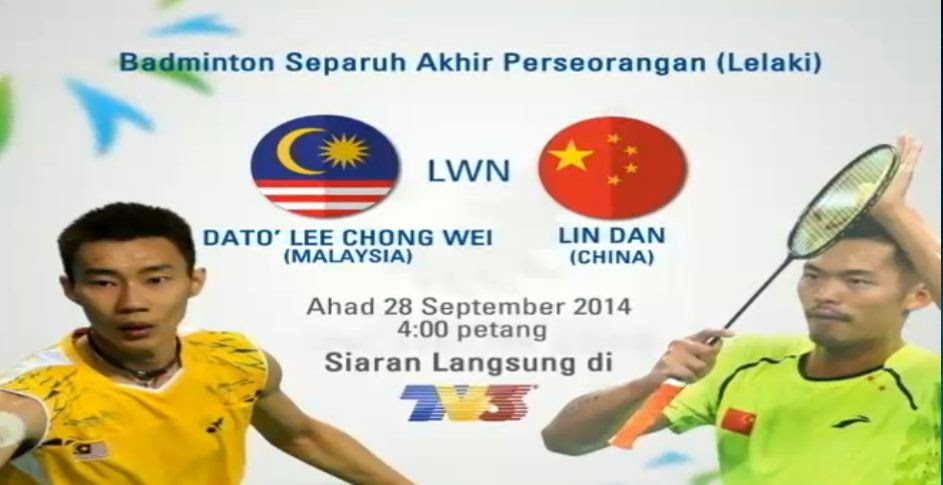 Dato Lee Chong Wei vs Lin Dan