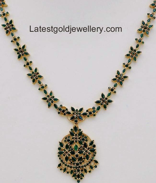 latest emerald necklace deisgns