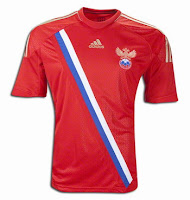 Euro 2012 Russia Home Jersey