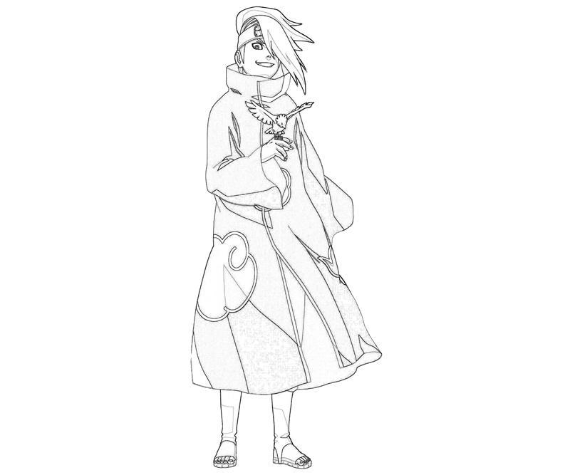 naruto-deidara-ninjutsu-coloring-pages