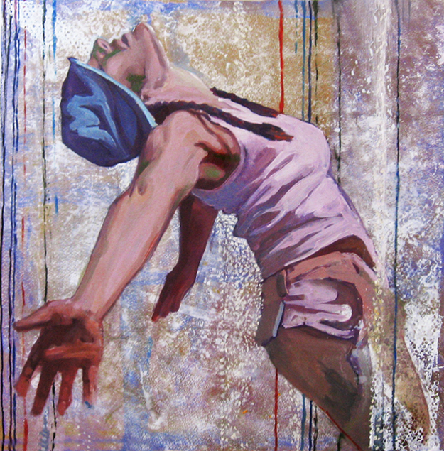 malarstwo olejne ekstaza ectasy aukcja młodych artystów warszawa sopocki dom aukcyjny Urbaniak kobieta szczęście