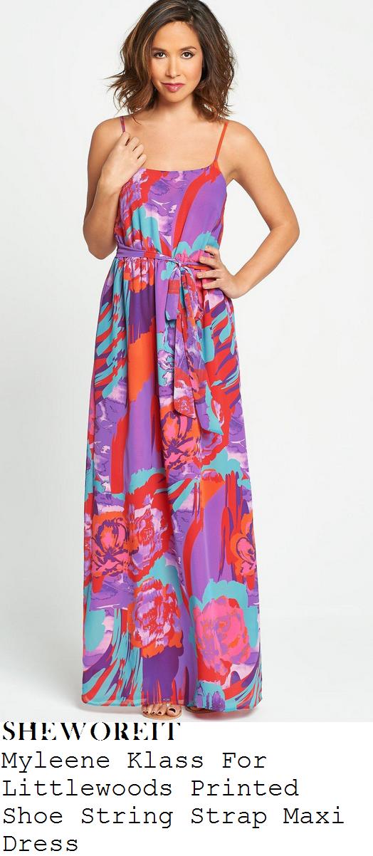 myleene-klass-multicoloured-sleeveless-tie-waist-maxi-dress