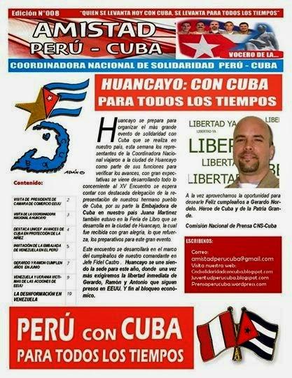 """BOLETIN Nª008 """"AMISTAD PERÚ CUBA"""""""