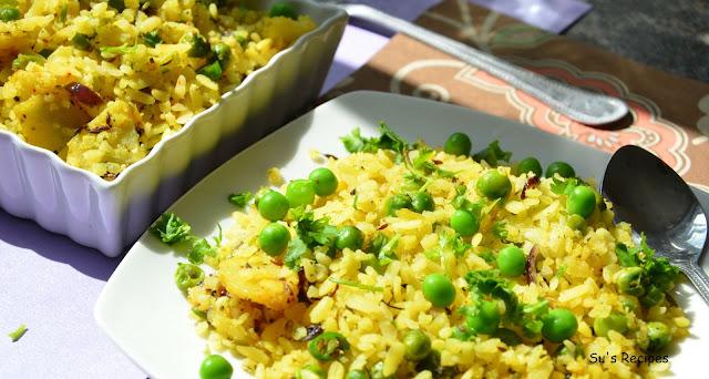 Poha (Flattened rice), masala poha, vegetable poha, atukulu, pohe, avalakki, aval, chinde, chira, chudaa, chiura, pauwa, phovu, baji, paunva, beaten rice