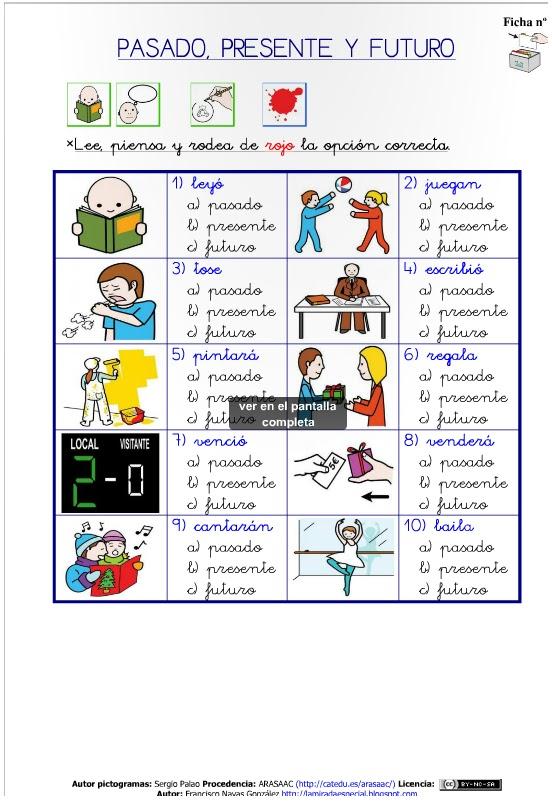 verbo ingles presente pasado: