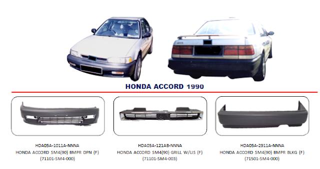 Bemper Honda Accord 1990