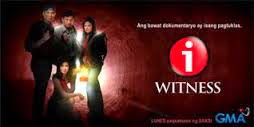 i-Witness, originally i-Witness: The Probe Team Documentaries, is a documentary news and public affairs television show in the Philippines aired every Monday evenings by GMA Network. PART 1 PART 2 […]