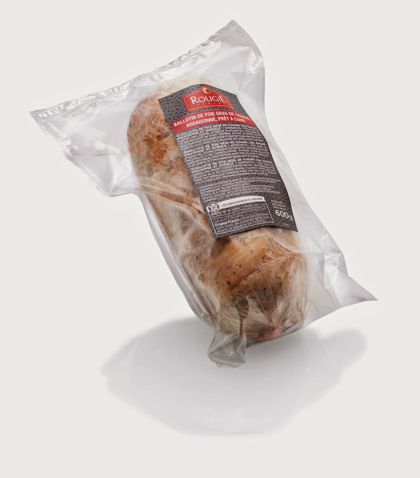 Cocinar Foie | Rougie Espana Rulo De Foie Gras De Pato Listo Para Cocinar